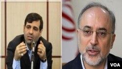Wakil Menlu Iran Mohammad Malekzadeh, dan Menlu Iran Ali Akbar Salehi.