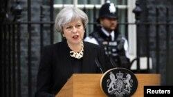 La Première ministre britannique Theresa May, 1er mai 2017.