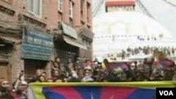 Peringatan setahun setelah kerusuhan etnis di Tibet, 20 Maret 2009.