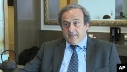Miche Platitni, le président suspendu de l'UEFA