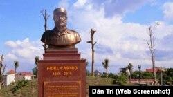Tượng bán thân Fidel Castro trong công viên mang tên ông ở Quảng Trị.