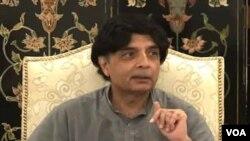 وفاقی وزیرِ داخلہ چودھری نثار علی خان
