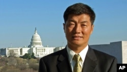 西藏流亡政府總理洛桑森格資料照。