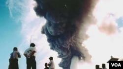 Gunung Gamalama di Ternate, Maluku Utara (foto:dok). Hari Minggu kemarin gunung ini meletus dan menyebabkan bandara Ternate ditutup.