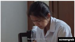 """Tokoh Shinta dalam film """"Asa"""" yang diadaptasi dari kisah nyata penyintas kekerasan seksual. (Foto: screengrab)"""