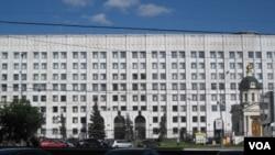 俄罗斯国防部大楼(美国之音白桦拍摄)