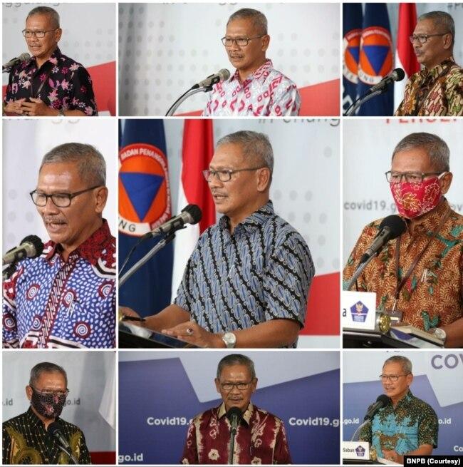 Juru bicara Satgas Penanganan Covid-19 dr. Achmad Yurianto dalam kolase. (Foto: Courtesy/BNPB)