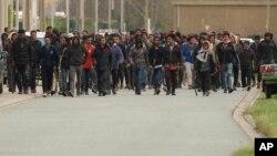 په کاله کمپ کې اریتریایي مهاجر