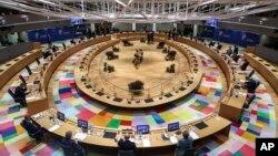 Hội nghị Thượng đỉnh EU tại Brussels, Bỉ, ngày 15/10/2020 thảo luận vể một số vấn đề trong đó có COVID-19.