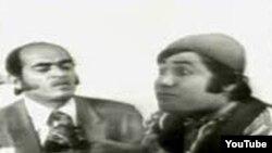 """حسن رضیانی (چپ) در نقش عین الله باقرزاده در مجموعه نمایشات تلویزیونی و سینمایی """"صمد"""" بهمراه پرویز صیاد"""