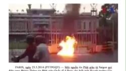 Một phụ nữ tự thiêu phản đối Trung Quốc trước Dinh Thống Nhất