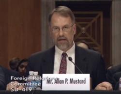 Allan P. Mustard testimony to be the next US ambassador to Turkmenistan