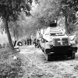 German armored vehicles advancing to Poland in September 1939