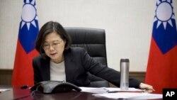 Tổng thống Đài Loan, Thái Anh Văn trong cuộc điện đàm với Tổng thống Mỹ Donald Trump sau khi ông Trump đắc cử