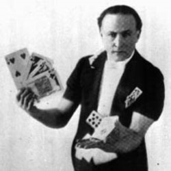 Magician Harry Houdini was also well known for his card tricks.