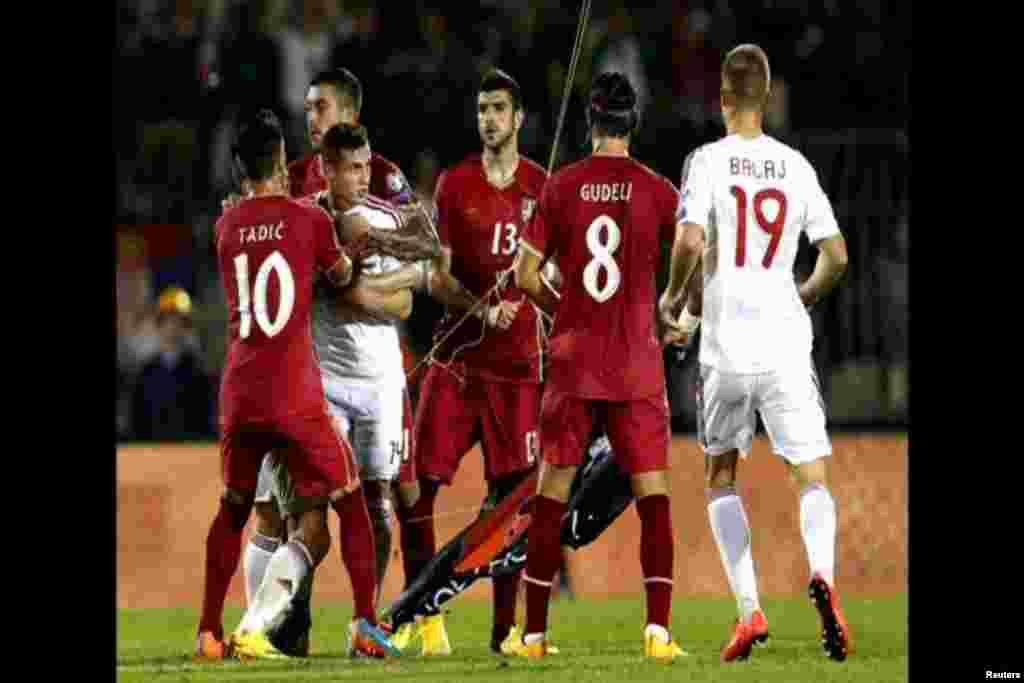 """Uefa pokrenula istragu, kako je rečeno, """"neoprostivih sukoba""""."""