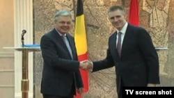 Ministri spoljnih poslova Belgije i Crne Gore, Didije Rajnders i Igor Lukšić, Podgorica 16. februar 2015.