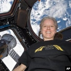 Astronaut Shannon Walker on the International Space Station