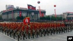 Военный парад в Пхеньяне, Северная Корея (архивное фото)