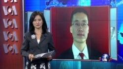 """VOA连线:唐荆陵""""煽动颠覆国家罪""""案开审,法院外多人被抓"""