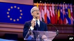 Глава компании Apple Тим Кук выступил на Международной конференции по защите данных в Брюсселе. 24 октября 2018 г.