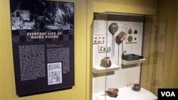 Objetos arqueológicos del Machu Pichu que conforman la colección de la Universidad de Yale, en Estados Unidos.