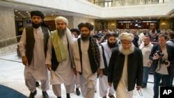 塔利班主要谈判代表2019年5月30日抵达莫斯科参加谈判。