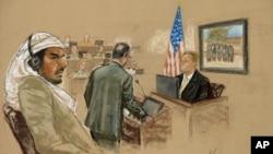 Салим Ахмед Хамдан в зале суда