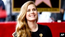 Amy Adams attends a ceremony honoring her with a star on the Hollywood Walk of Fame, Jan. 11, 2017, in Los Angeles.