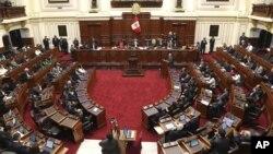 Le Parlement du Pérou le 20 septembre 2018 (Photo AP)