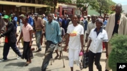 Veteranos da guerra manifestando-se no Lubango