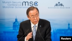 FILE - U.N. Secretary-General Ban Ki-moon.