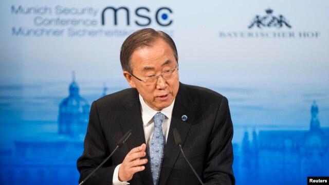 FILE - U.N. Secretary-General Ban Ki-moon.