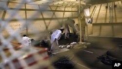 巴格拉姆機場附近的白沙瓦拘押中心裡(2011年3月)