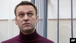 俄羅斯反對派領導人阿列克謝納瓦爾尼2月28日在法庭聽審。