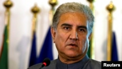 Pakistan's new Foreign Minister Shah Mehmood Qureshi travels to China, Dec. 25, 2018, to discuss the evolving political dynamics in Afghanistan.