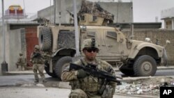 Un soldat américain à Kandahar (sud de l'Afghanistan) le 14 avril 2011