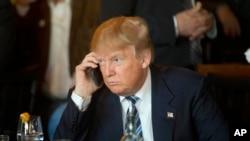 Prezidan Ameriken an, Donald Trump.