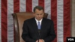 مجلس نمایندگان آمریکا، جان بینر نماینده جمهوری خواه از ایالت اوهایو را بار دیگر به عنوان رییس جدید این مجلس انتخاب کرد