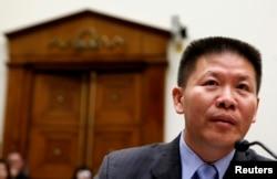 對華援助協會創始人傅希秋牧師在美國國會的一個聽證會上。(2012年5月15日)
