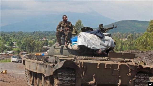 Imodoka y'intambara mu burasirazuba bwa Kongo