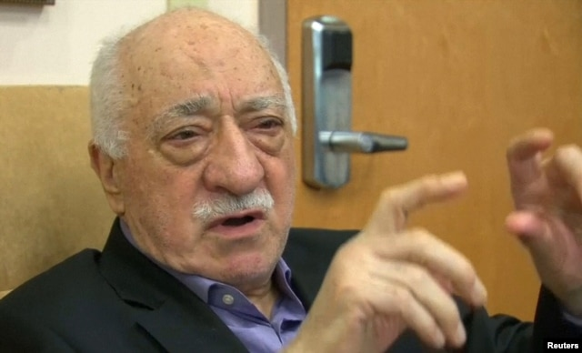 U.S.-based cleric Fethullah Gulen, whose followers Turkey blames for a failed coup, is shown in still image taken from video, speaks to journalists at his home in Saylorsburg, Pennsylvania, July 16, 2016.