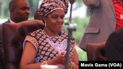 First Lady Grace Mugabe at Politburo Meeting