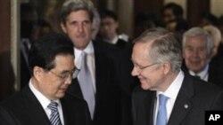 미국 의회지도자들을 만나는 후진타오 주석
