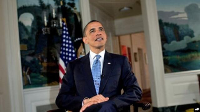 US President Barack Obama delivers weekly radio address, 10 Apr 2010