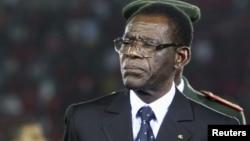 Teodoro Obiang Nguema Mbasogo le 21 janvier 2012. (VOA)
