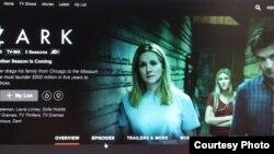 Стартовая страница сериала Ozark на сайте Netflix