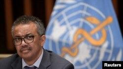 Dirjen Organisasi Kesehatan Dunia (WHO) Tedros Adhanom Ghebreyesus menyatakan keprihatinannya mengenai pertambahan pesat jumlah kasus baru Covid-19 di seluruh dunia. (Foto: dok).