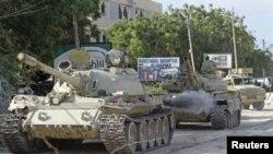 Vifaru vya AMISOM katika shughuli zake za kijeshi dhidi ya kundi la Al-Shabab nchini Somalia