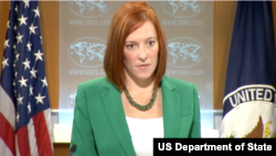 U.S. State Department Spokesperson Jennifer Psaki